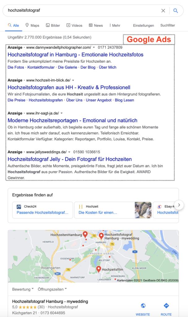 Google Ads für Fotografen